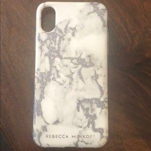 Marblized Rebecca Minkoff iPhone X case 😍